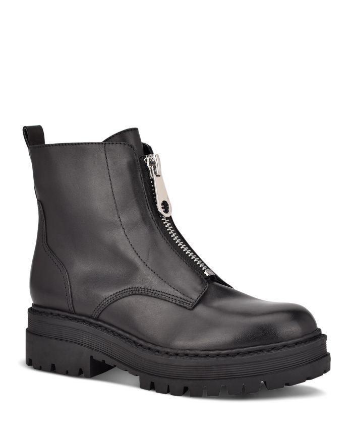 Marc Fisher LTD. Women's Paralee Front Zip Leather Booties   | Bloomingdale's