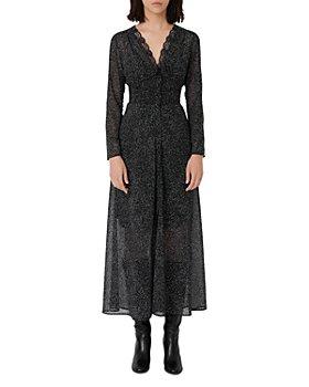 Maje - Ravialine Dot Print Maxi Dress