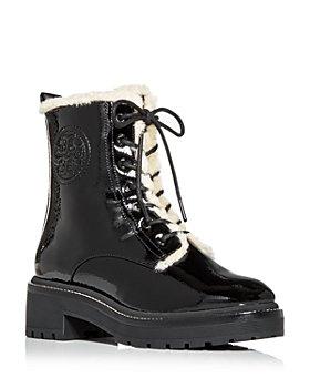 Tory Burch - Women's Miller Shearling Combat Boots