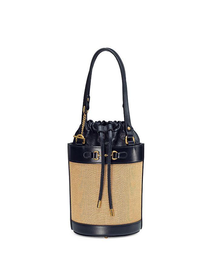 Gucci - 1955 Horsebit Small Canvas Bucket Bag