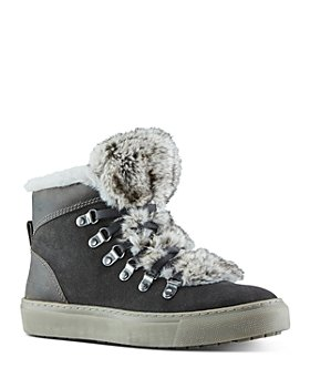 Cougar - Women's Lace Up Faux Fur Trimmed Sneakers