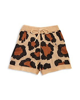 Hayden Los Angeles - Girls' Leopard Print Sweater Shorts - Big Kid