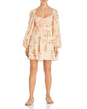 Hemant and Nandita - Smocked Waist Babydoll Dress