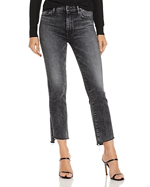 MOTHER THE INSIDER CROPPED STEP HEM JEANS IN TRAIN STOPS