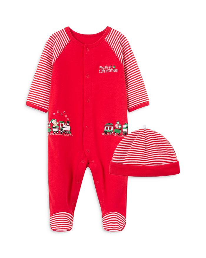Little Me Boys' 2-Piece Holiday Coverall & Hat Cotton Set - Baby  | Bloomingdale's