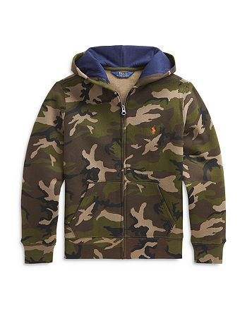 Ralph Lauren - Boys' Camo Zip Hoodie - Little Kid, Big Kid