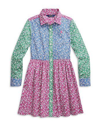 Ralph Lauren - Girls' Color Blocked Printed Dress - Little Kid, Big Kid