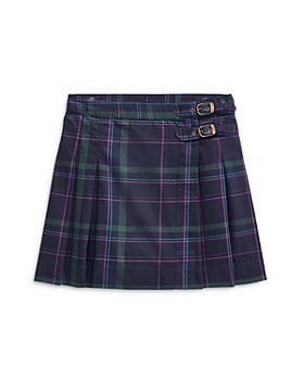 Ralph Lauren - Girls' Plaid Twill Kilt Skirt - Big Kid