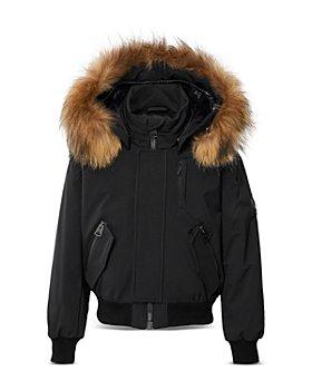 Mackage - Boys' Fur Trim Down Sax Bomber Jacket - Big Kid