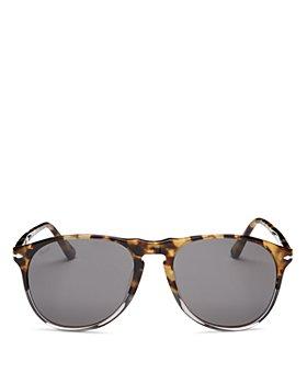 Persol - Unisex Polarized Round Sunglasses, 55mm