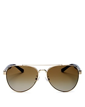 Tory Burch - Women's Brow Bar Aviator Sunglasses, 55mm