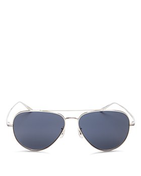 Oliver Peoples - x The Row Women's Casse Brow Bar aviator Sunglasses, 58mm
