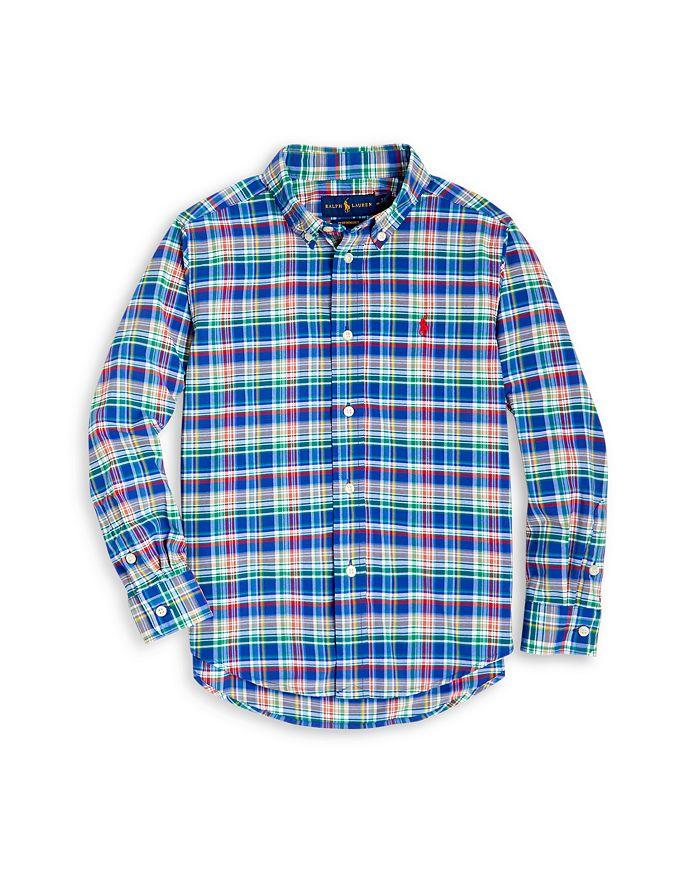Ralph Lauren - Boys' Plaid Button Down Shirt - Little Kid, Big Kid