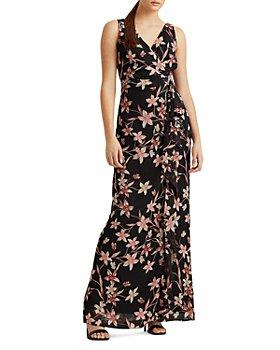 Ralph Lauren - Floral Cascading Ruffle Gown