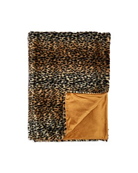 Hudson Park Collection - Leopard Faux Fur Throw