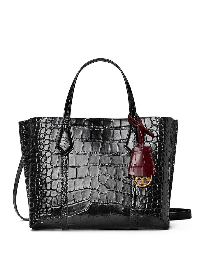 Tory Burch - Perry Small Embossed Leather Triple Compartment Tote