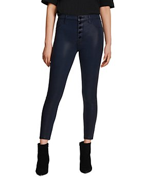 J Brand - Lillie High Rise Cropped Skinny Jeans in Stellar Navy