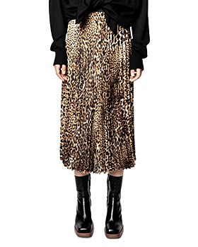 Zadig & Voltaire - Joyce Leopard Print Pleated Midi Skirt