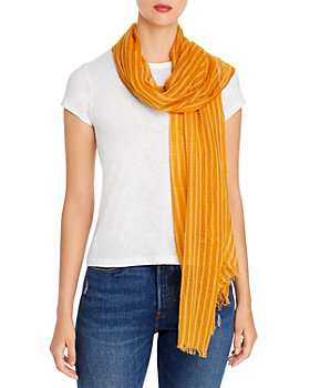 Eileen Fisher - Striped Fringed Scarf