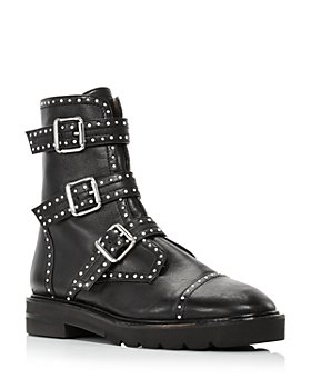 Stuart Weitzman - Women's Jesse Studded Buckled Booties