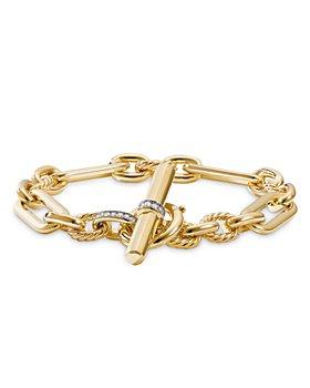 David Yurman - Lexington Chain Bracelet in 18K Yellow Gold with Diamonds