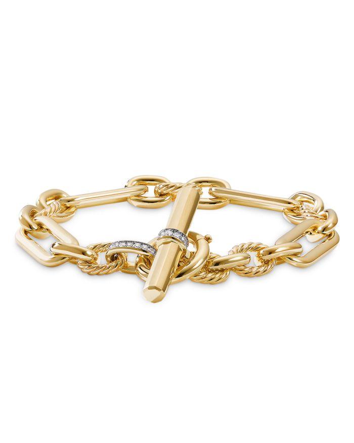 David Yurman Lexington Chain Bracelet in 18K Yellow Gold with Diamonds  | Bloomingdale's