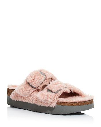 Birkenstock - Women's Papillio Arizona Shearling Slide Sandals - 100% Exclusive