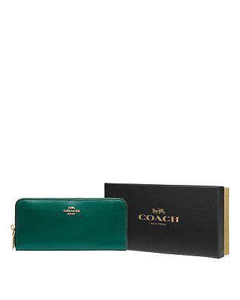 COACH - Slim Zip-Around Leather Wallet