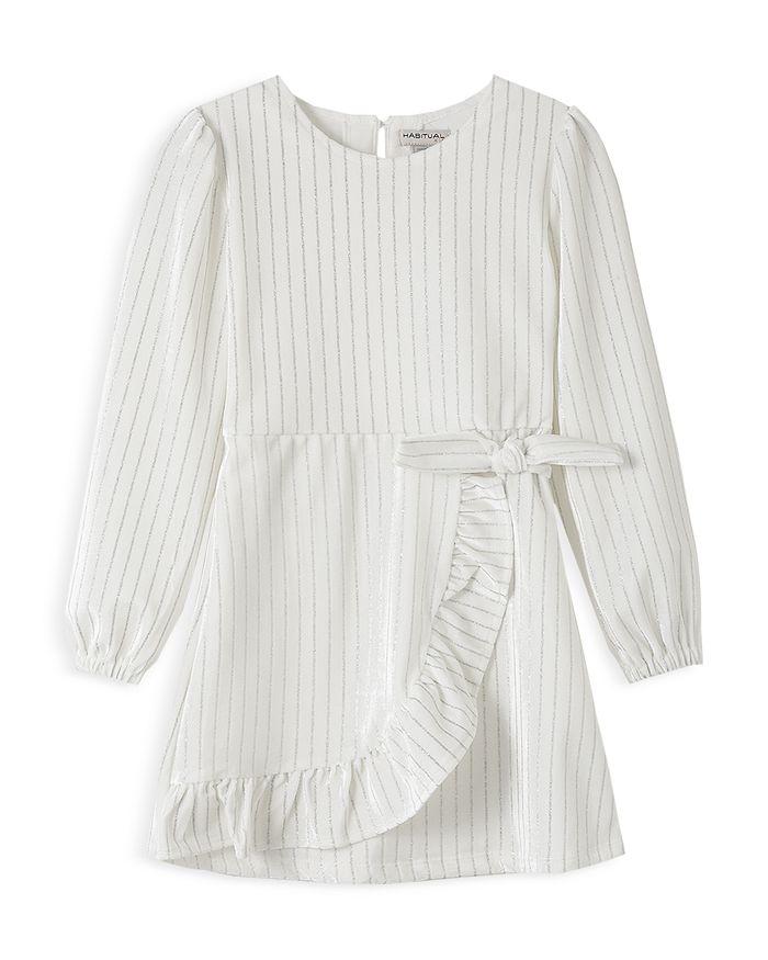 Habitual Kids - Girls' Aubrielle Velour Mock Wrap Dress - Little Kid