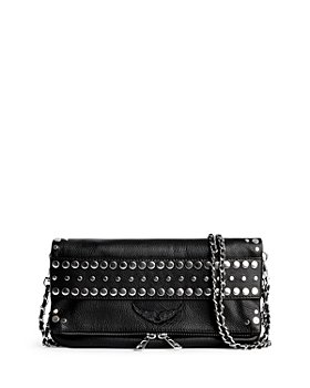 Zadig & Voltaire - Studded Rock Grain Leather Crossbody Clutch