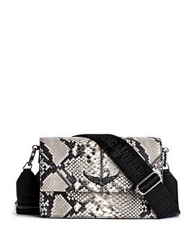Zadig & Voltaire - Lolita Wild Snake Embossd Leather Shoulder Bag