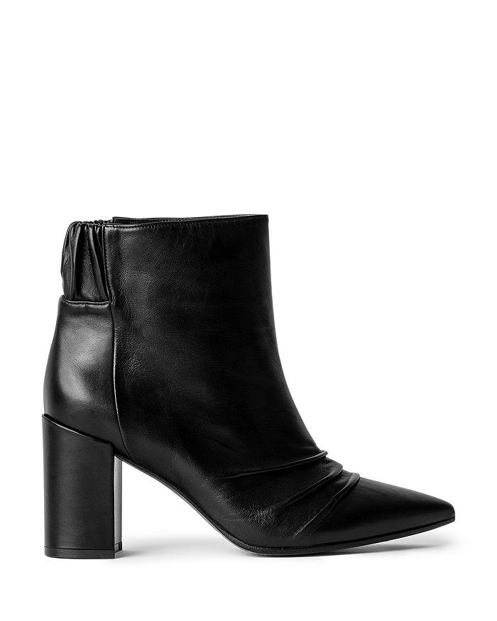 Zadig & Voltaire - Women's Glimmer Pointed Toe High Heel Leather Booties