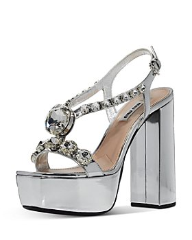 Miu Miu - Women's Metallic Platform Sandals