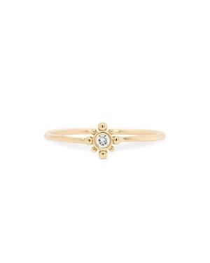 Zoe Chicco 14K Yellow Gold Diamond Starburst Stacking Ring