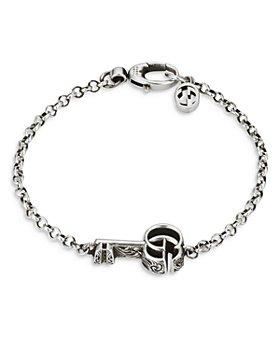 Gucci - Sterling Silver MARMONT Key Chain Bracelet