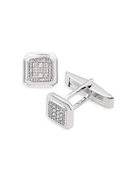 Bloomingdale's - Diamond Pavé Cufflinks in 14K White Gold - 100% Exclusive