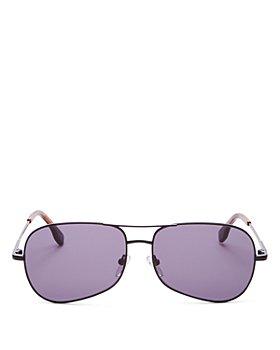 Le Specs Luxe - Unisex Krill Brow Bar Aviator Sunglasses, 57MM
