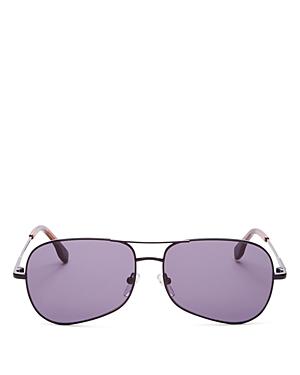 Unisex Krill Brow Bar Aviator Sunglasses