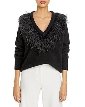 Cinq à Sept - Lizzie Feather Trim Sweater