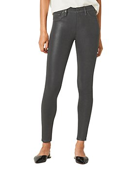 Hudson - Double Coated Skinny Ankle Jeans in High Shine Dark Slate