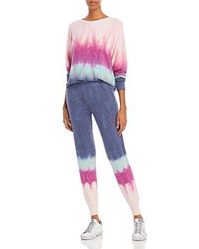 WILDFOX - Printed Crewneck Sweatshirt & Jack Tie Dyed Joggers