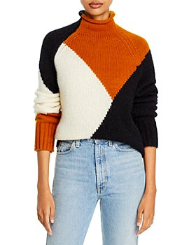 A.L.C. - Claremont Color Blocked Boxy Sweater