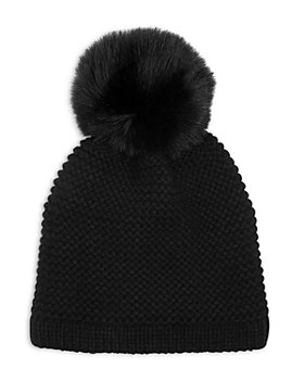 Kyi Kyi - Knitted Faux Fur Pom Pom Hat