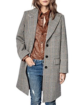 Zadig & Voltaire - Marc Herringbone Plaid Coat