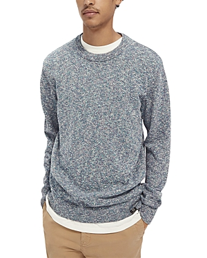 Scotch & Soda Cotton Blend Melange Slim Fit Sweater-Men