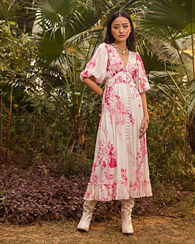 Hemant and Nandita - Floral Print Maxi Dress