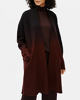 Eileen Fisher - Ombre Open Front Wool Coat