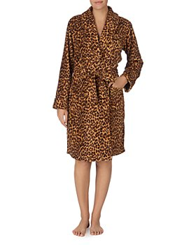 Ralph Lauren - Plush Leopard Print Short Wrap Robe
