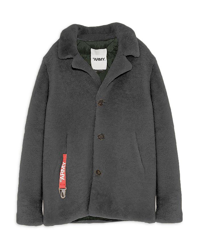 Yves Salomon Yves Salmon Shearling Coat In Gray