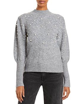 Lucy Paris - Winslow Embellished Balloon Sleeve Sweater
